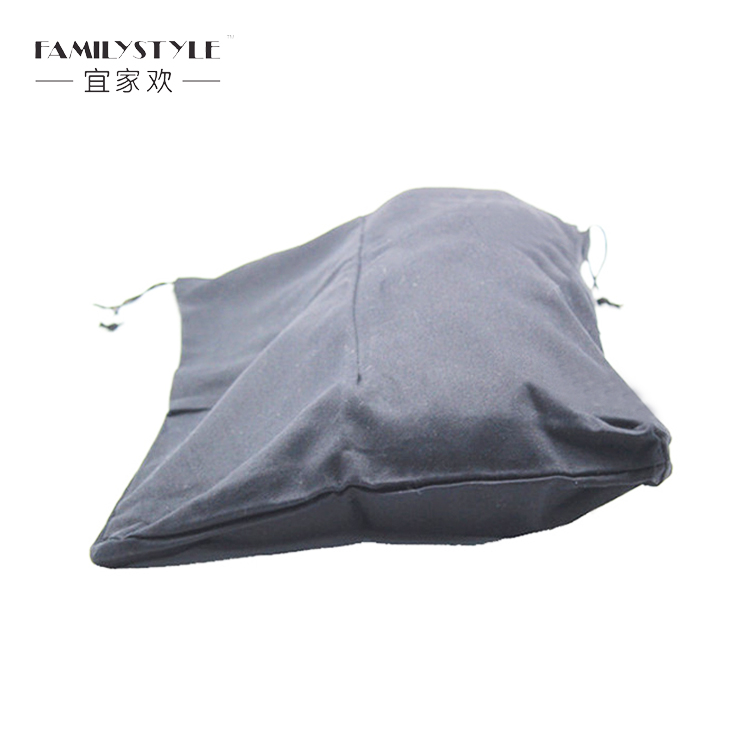 wholesale double string drawstring microfiber travel shoe bag