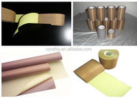 Adhesive PTFE coated glass fabric with release liner