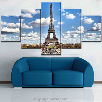 Modern Famous Buildings 5 Wall Hanging Paintings Simple Modern