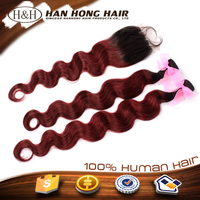 burgundy natural ombre lace closure virgin brazilian hair bundles in nyc/ny