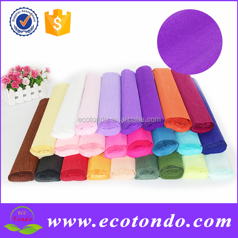 crepe paper for flower packing,wrapping paper,decorative fluorescent craft streamer printed colorful crepe paper