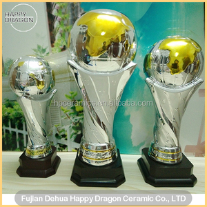 Ceramic Globe Sports Trophy for Sports Event