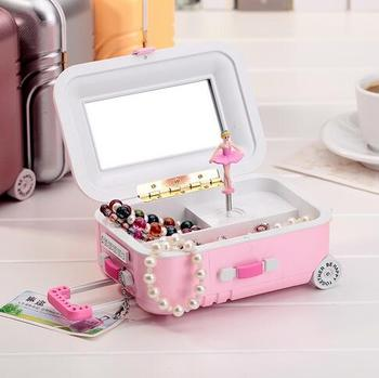 Novelty Gifts Fashion Mini Trunk Rod Suitcase Luggage Cases Music