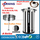 Electrical appliances stainless steel hot coffe commercial espresso machine large capacity