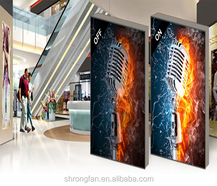 Aluminum SEG fabric tension frame free standing exhibition display system for advertising
