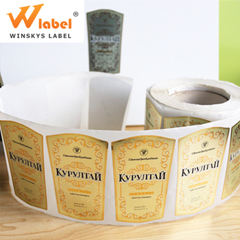 Roll Custom Printed Self Adhesive Red Wine Bottle Label Custom Self Adhesive Wine Sticker Printing Bottle Label Maker