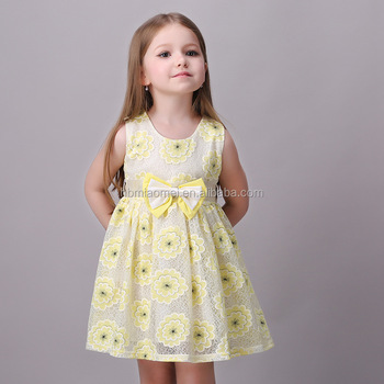 Baby Girls Party Dress Design Simple Yellow Children Girl Dress Beautiful Girl  Without Dress. Baby Girls Party Dress Design Simple Yellow Children Girl Dress