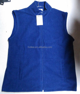 cheap navy sleeveless fleece vests