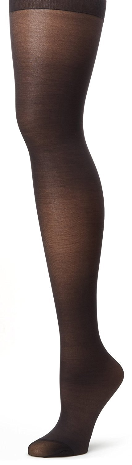 89c42434685 Hanes womens Alive Full Support Control Top Reinforced Toe Pantyhose (00810)-Jet-A