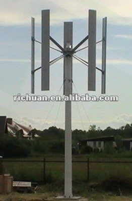 vertical axis FRP blade PMG 5kw wind turbine generator