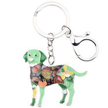 Брелок для ключей Bonsny, эмалированный лабрадор, для собак, новые украшения для женщин, сумка для девушек, подвеска, автомобильный держатель д...(Китай)