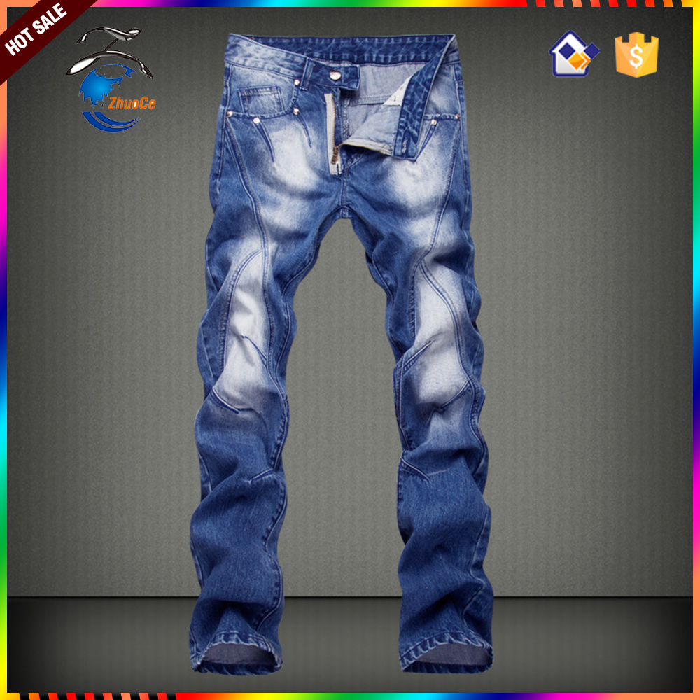 Jeans wholesale direct factory new style Skinny Knit Denim Jeans trousers with Flap Pockets