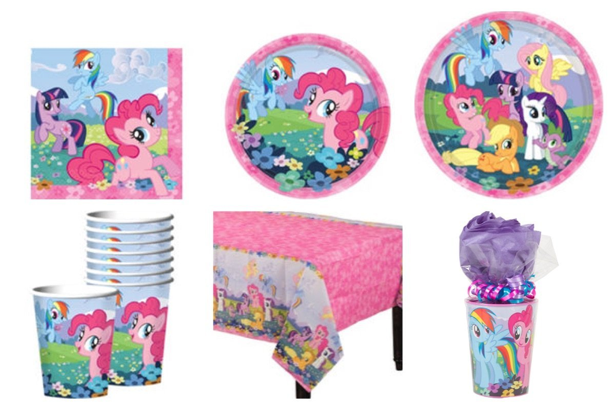 My Little Pony Party Supplies Standard Kit for 16 *Free Gift*
