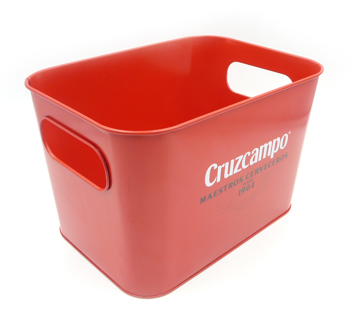 Small square shape tin ice bucket galvanized metal bucket