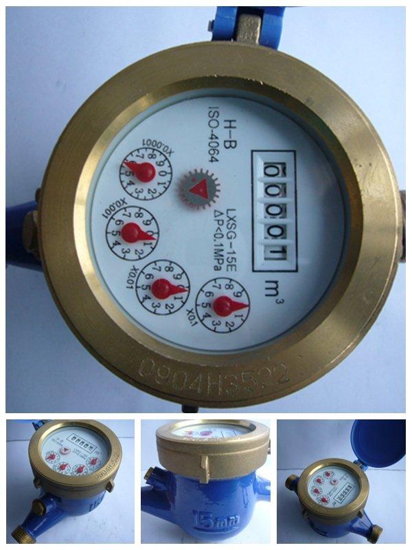 Esfera seca rueda de paletas laton medidor de agua - Medidor de agua ...