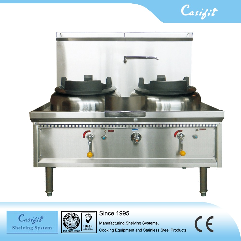 Hotel Kitchen Equipment Commercial Two Holes Gas Wok Burner - Buy ...