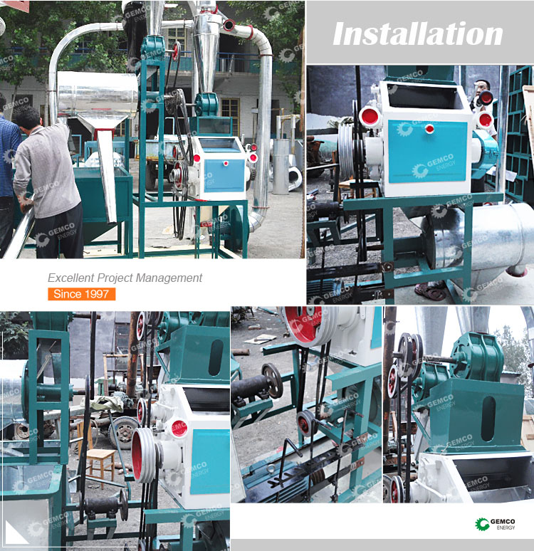 Factory price small scale rice maize corn wheat flour milling grinding equipment mini small flour mill plant