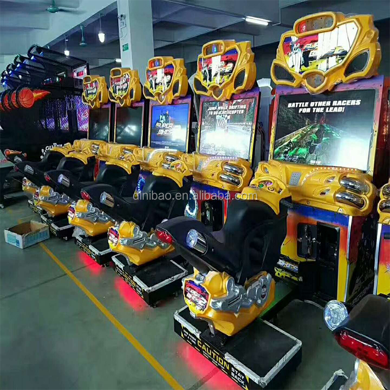 Electronic indoor coin operated simulator sonic racing car games machine