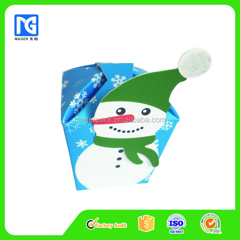 Creative Holiday Snowman Design Candy Packaging Paper Box