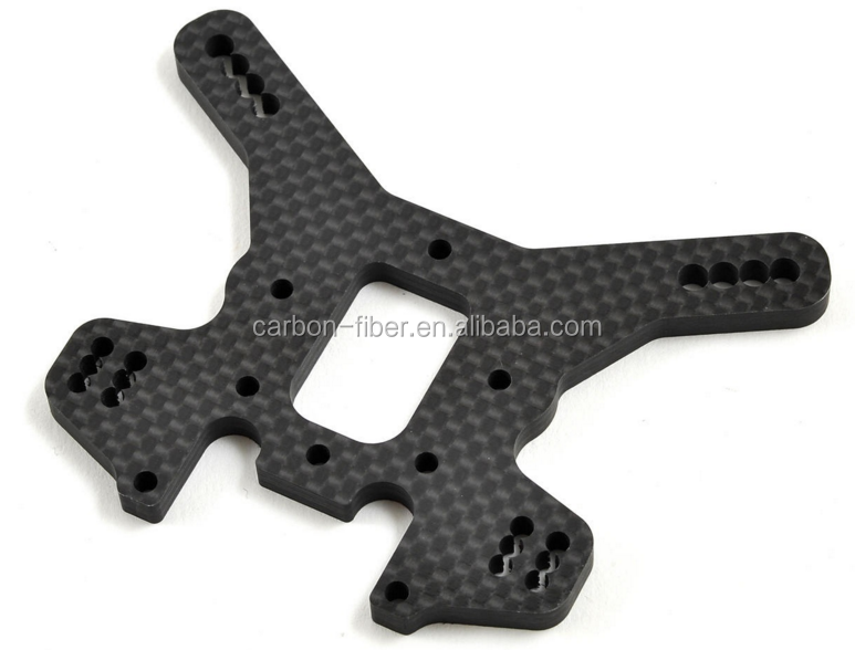 Precision carbon fiber sheet cnc cutting part for tool car drone parts