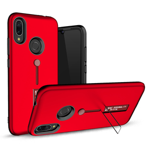 SAIBORO metal kickstand silicone ring hard protective red cellphone case back cover for xiaomi redmi note 7
