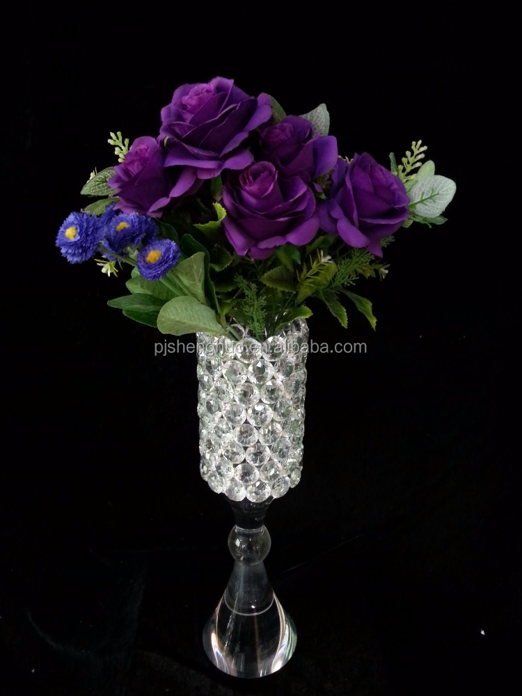 Weeding Stand Flower Crystal Candlestick and flower vase SHB-040