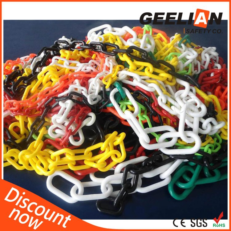 Popular 6mm and 8mm Traffic Safety Plastic Chain