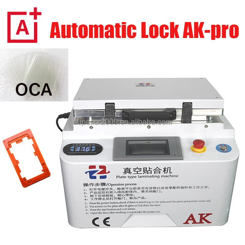 AK-pro LCD Vacuum OCA Lamination Machine and Bubble Remover Machine Max for 12'' LCD Screen Repair for iphone 7/S7 edge allphone