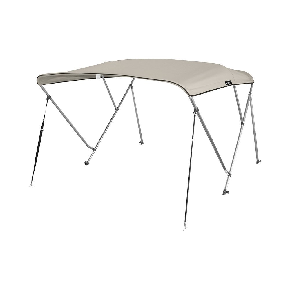 MSC 3 Bow Bimini Boat Top Cover with Rear Support Pole and Storage Boot, Color Gray,Pacific Blue,Burgundy,Navy,Beige,Forest Green,White,Black,Seal available