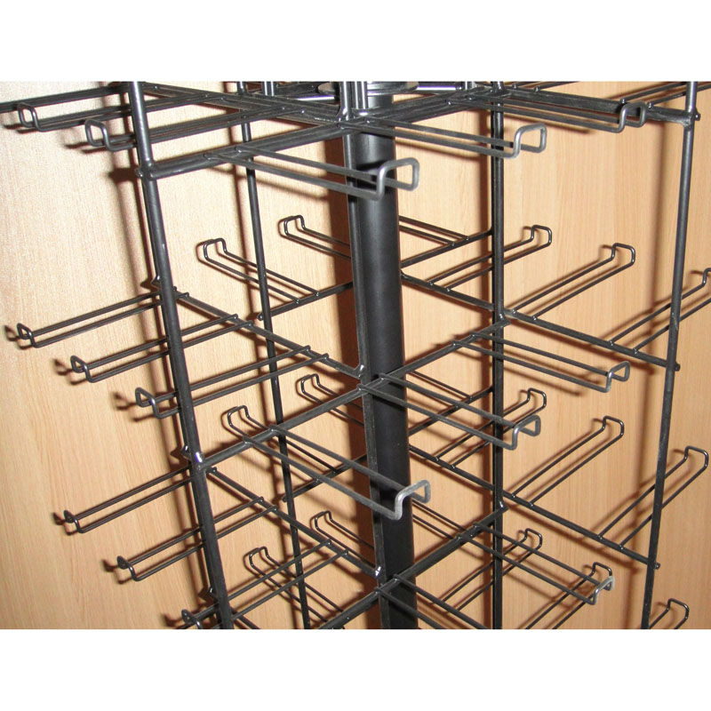 iron rod arm hangers four sides retail store promotion floor spinning peg hooks displays stand