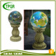 Polyresin Decoration Pillar Green Ball Resin Home Craft Decoration