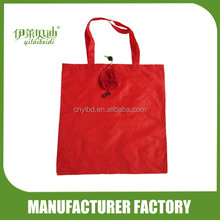 Wholesale Supply Stock Promotional Rose Shape Foldable Shopping Bag Custom Made/Custom Polyester Folding Recycle Shopping Bag
