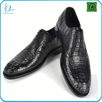 High quality genuine reptile leather real crocodile leather shoes men
