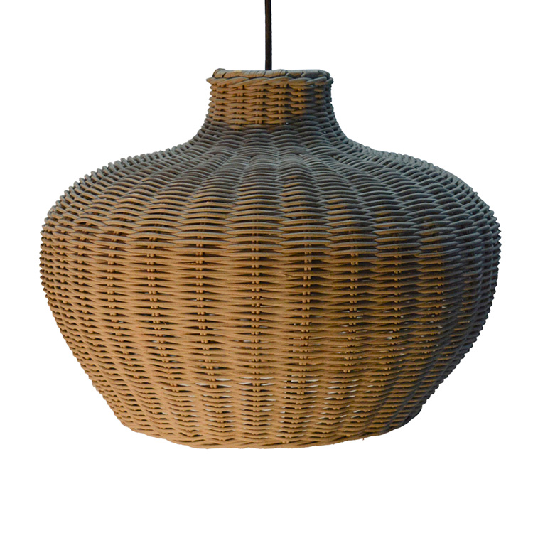 Oriental style woven wicker dinning room pendant lampshade