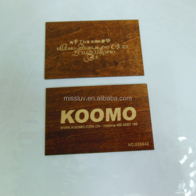 Low Price Laser Cut Business Card Unique Bamboo Wood