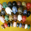 Popular Natural Gemstone Hand-made Carved Skull 10mm to customized size Jewelry making For Decoration