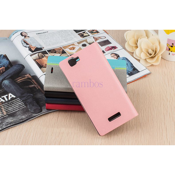 Flip PU Leather Cover Customized Phone Case For VIVO V1