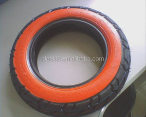hot sale motorcycle tire 350-10 red side color tyres