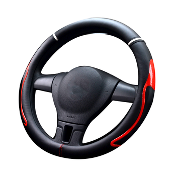 FX-P-86 sports Color Stitching Four seasons Odorless Bump Anti Slip Car Steering Wheel Cover