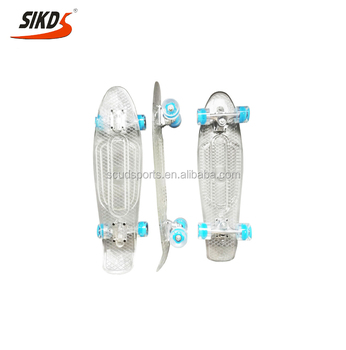 27inch plastic skateboard transparent skateboard deck