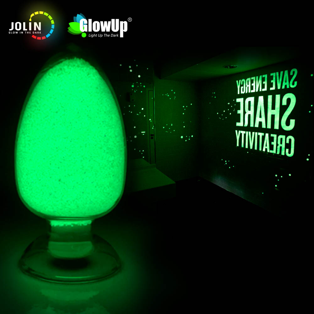 YG-B3 JOLIN glow in the dark luminous night glow photoluminescent pigment use in epoxy resin and spray car paint coating