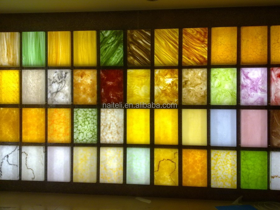 Decorative Acrylic Onyx Panel For Club Restaurant Home