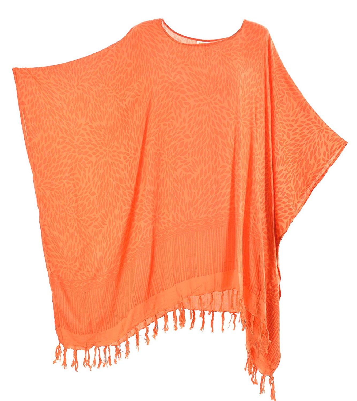 0db5e53e804 Get Quotations · Lifestyle Batik Petals Motif Print Batik Women Plus Size  Tunic Poncho Caftan Top 46