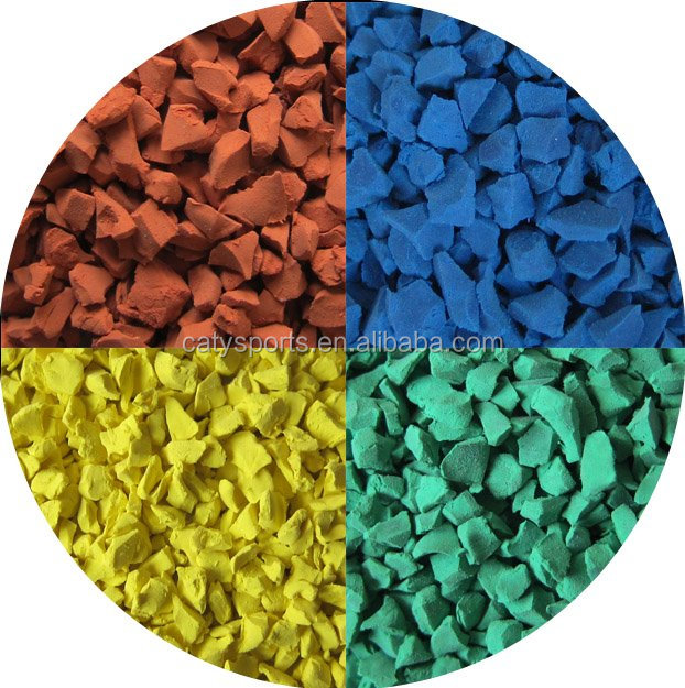 China Top Qualtiy red, green, blue, yellow, purple, grey, organge, etc. 13%, 15%, 18%, 20%, 25% EPDM Rubber Granules