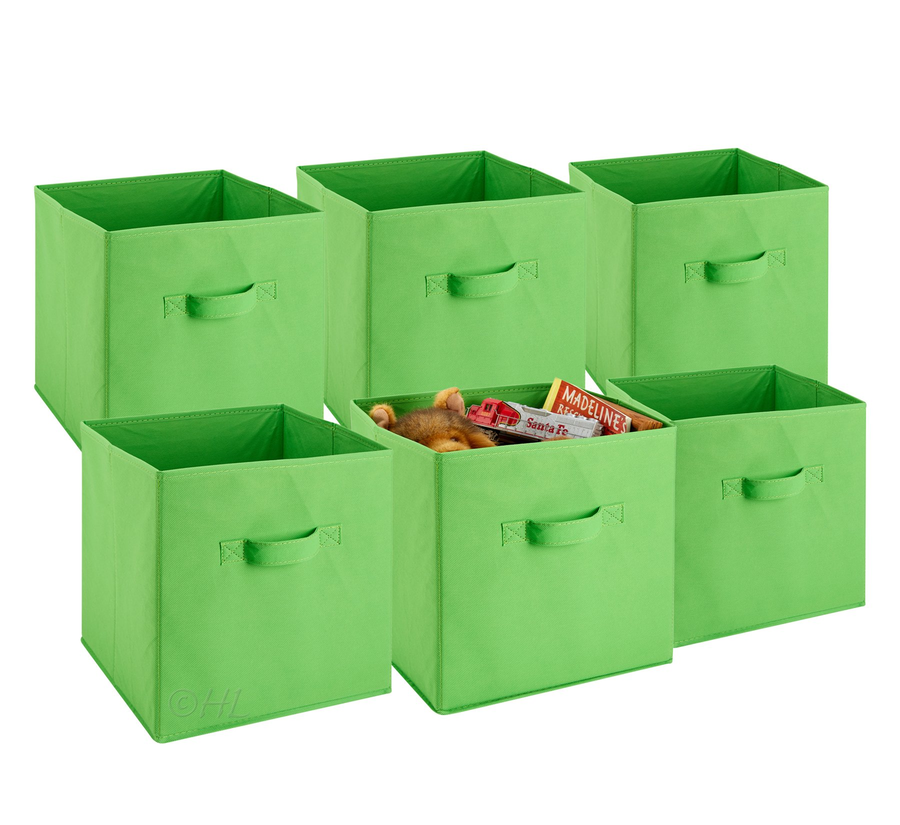 Get Quotations Foldable Cube Storage Bins 6 Pack These Decorative Fabric Cubes Are Collapsible And