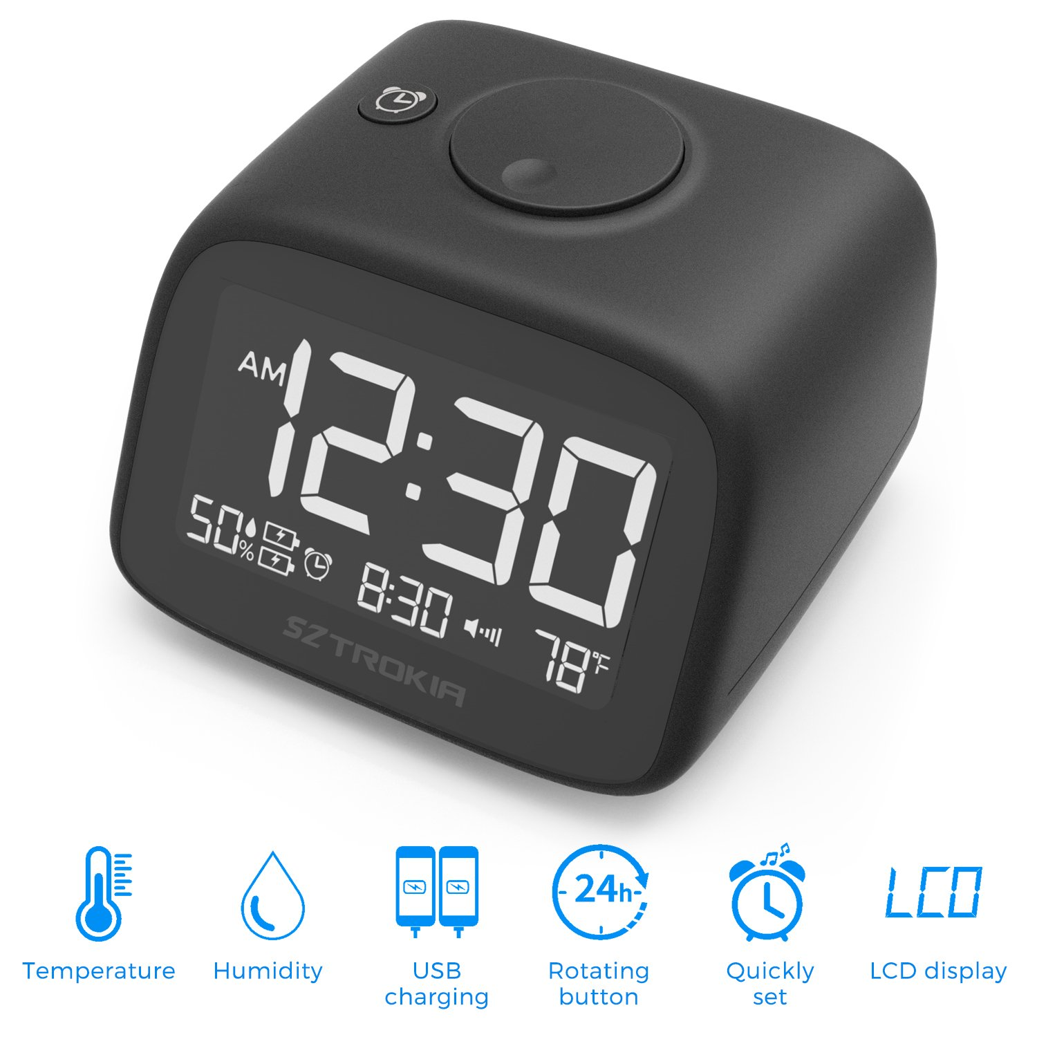 Cheap Phone Charger Alarm Clock Find Digital Multifunction Thermometer And Hygrometer With Get Quotations Sztrokia Multifunctional Indoor Dual Usb