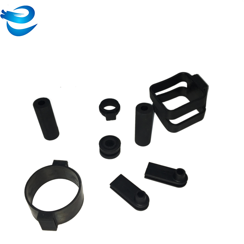 Cylinder black rubber cable bushing