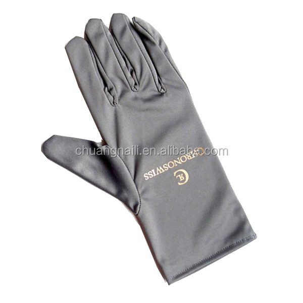 Suede microfiber gloves with logo printed
