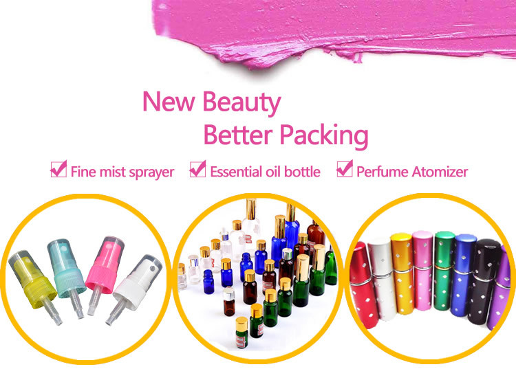 Travel size pump sprayer sealing plastic perfume bottle
