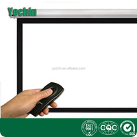 84 inch 4:3 Electronic White Projection Screen / Powered Projector Motorised